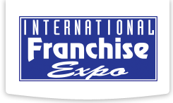 Logo of the International Franchise Expo, a sponsor of the How To Buy A Franchise Show by Dr. John Hayes